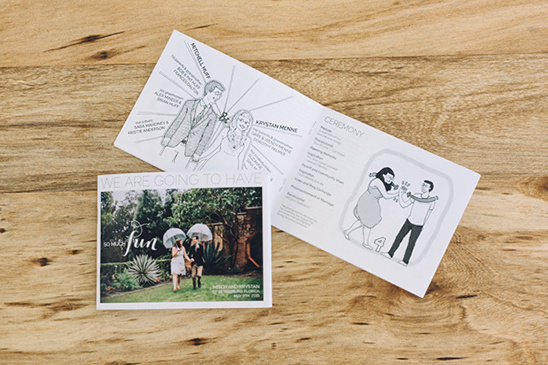 wedding programs @weddingchicks