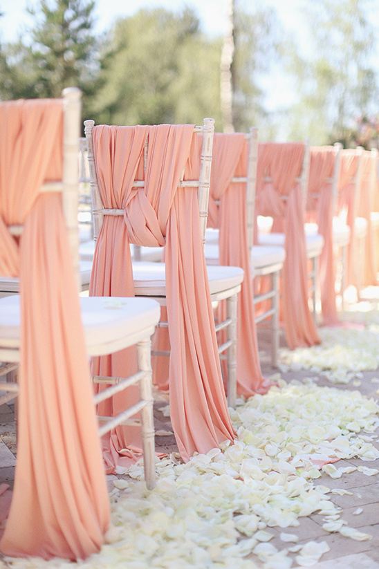 pink chair sash @weddingchicks