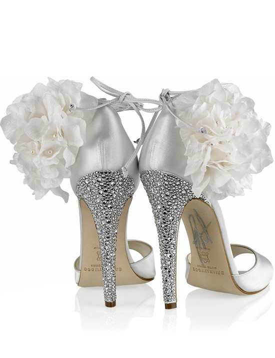 brian atwood wedding sandals with crystals @weddingchicks