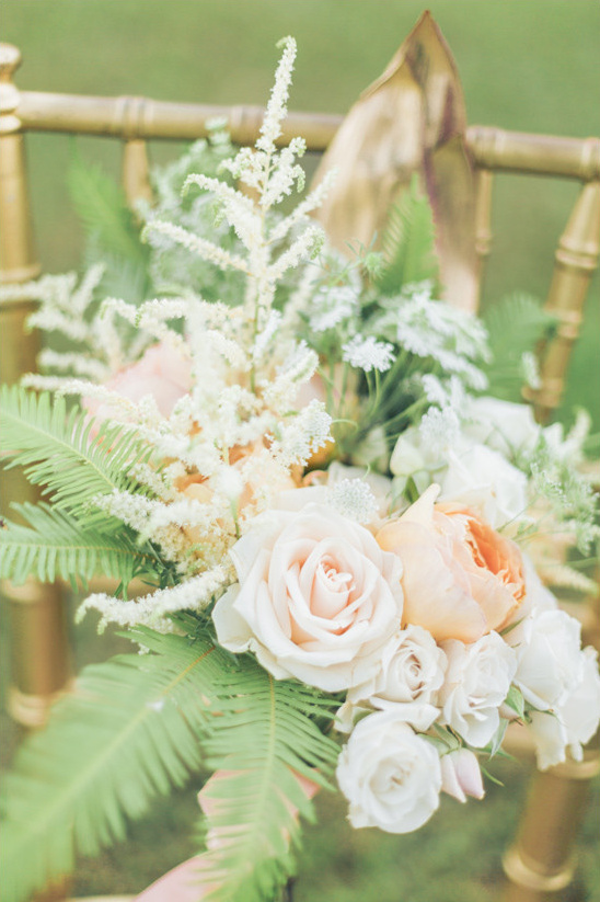 Peach Green And Gold Garden Wedding Ideas
