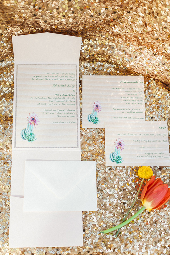 cactus invitation suite @weddingchicks