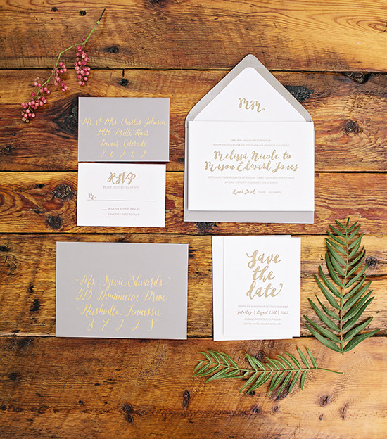 rustic wedding invite @weddingchicksa