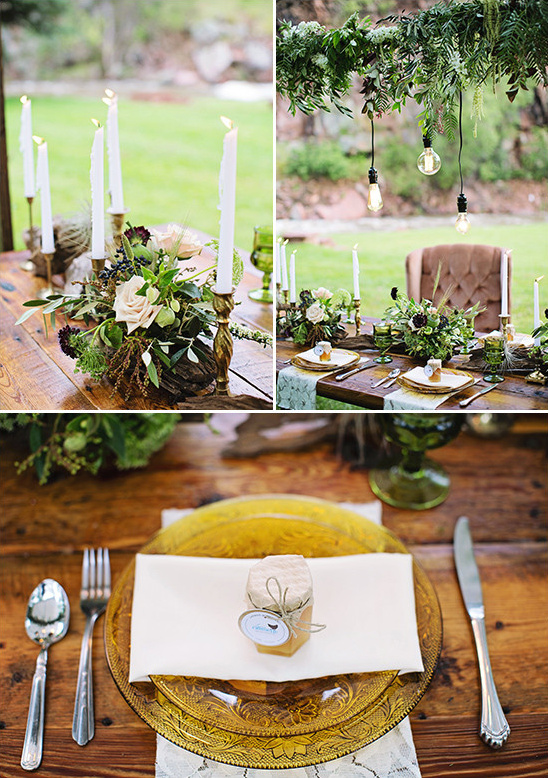 rustic table decor @weddingchicks