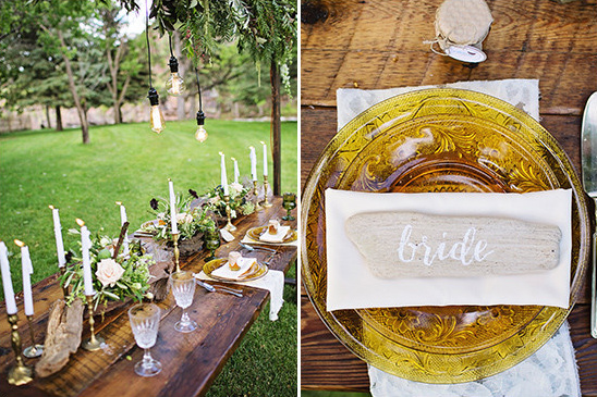 organic placecards @weddingchicks