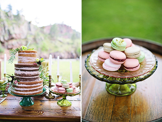 pink and green desserts @weddingchicks