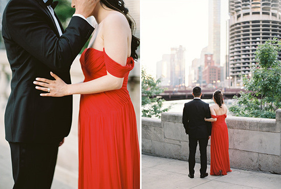 red reception dress @weddingchicks