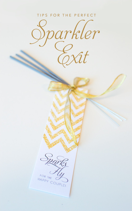 Sparkler Exit Tips @weddingchicks