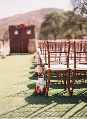 Blush, Red & Gray Rustic Tea Party Wedding