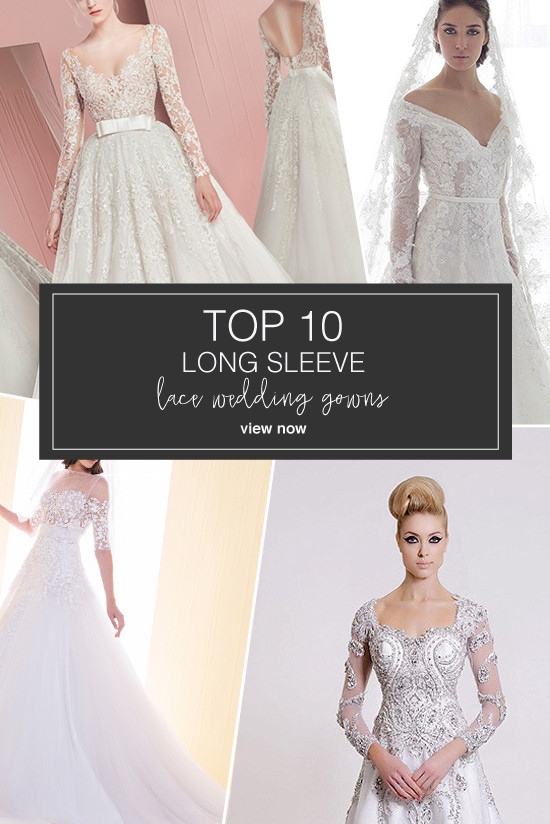 long sleeve lace wedding dresses @weddingchicks