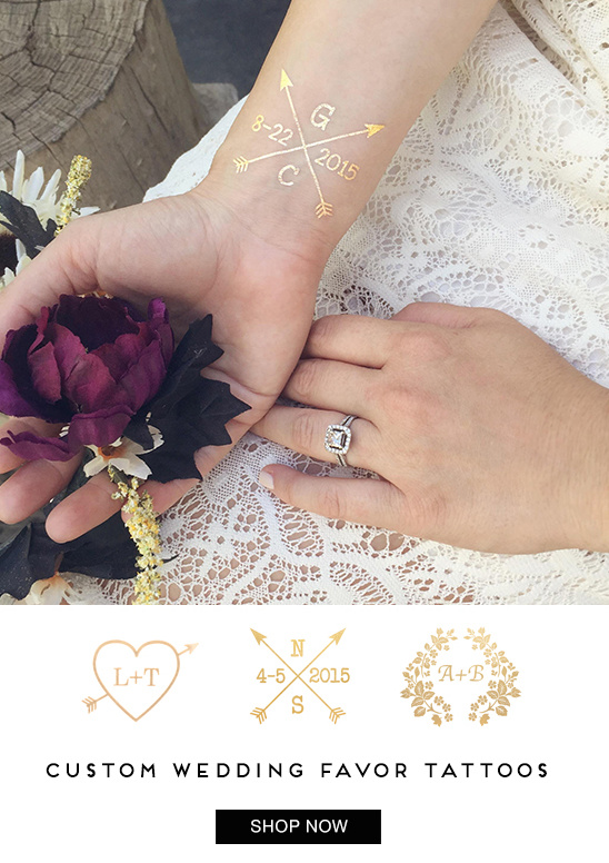 Custom wedding jewelry tattoos from Anna Bee @weddingchicks