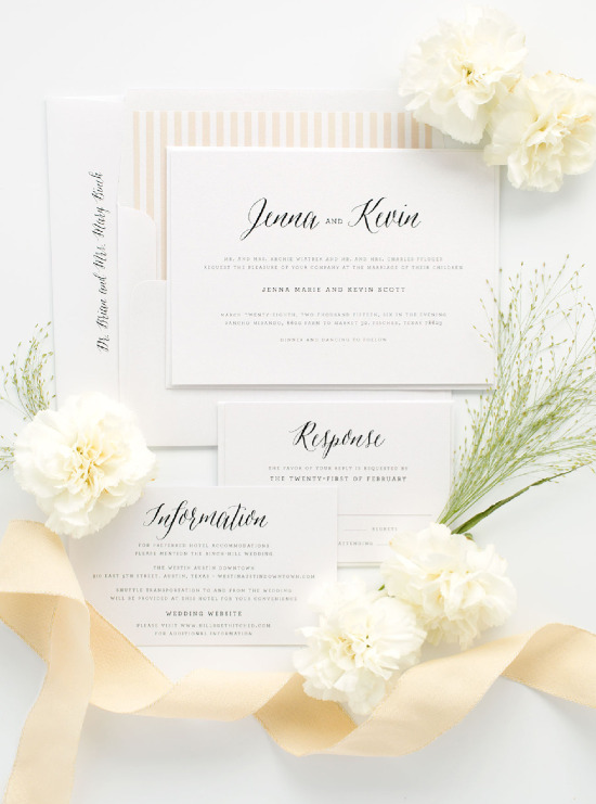Classic and timeless wedding invitations from Shine Wedding Invitations. @weddingchicks