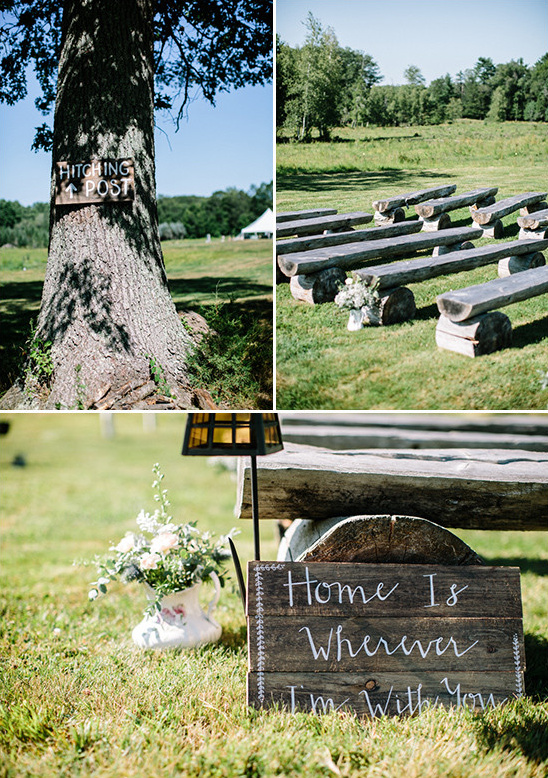 rustic wedding decor @weddingchicks