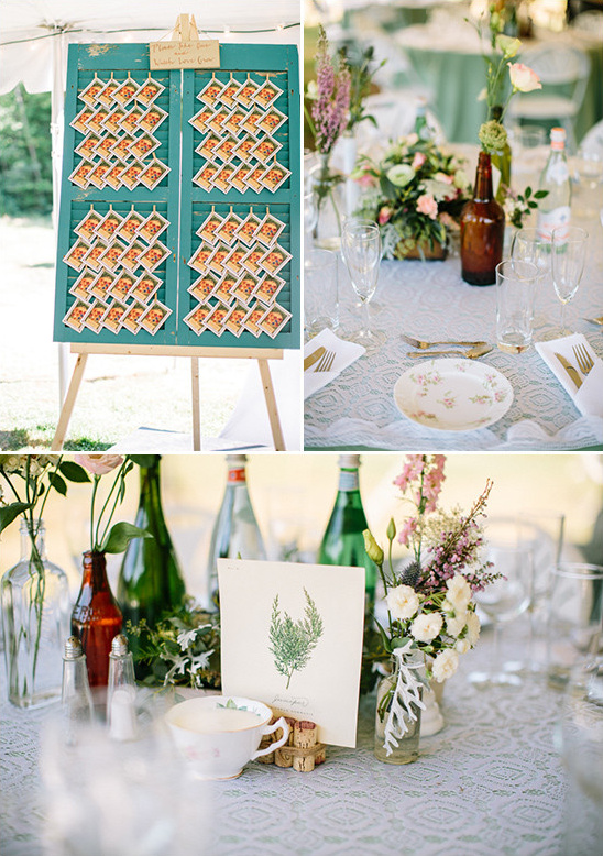 shabby chic table decor @weddingchicks
