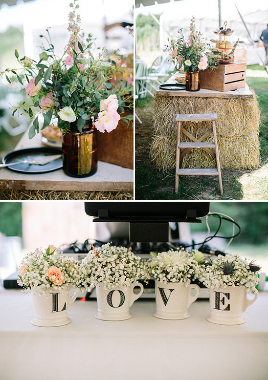 shabby chic wedding decor @weddingchicks