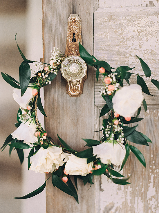 boho floral crown @weddingchicks