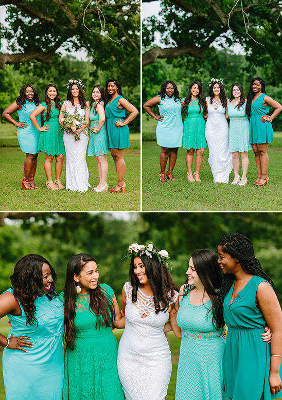 blue bridesmaid dresses @weddingchicks