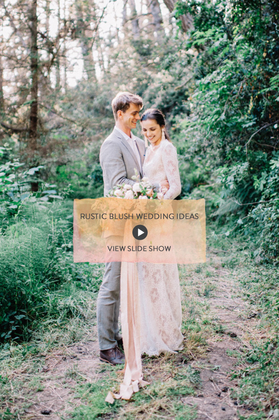rustic blush wedding inspiration @weddingchicks