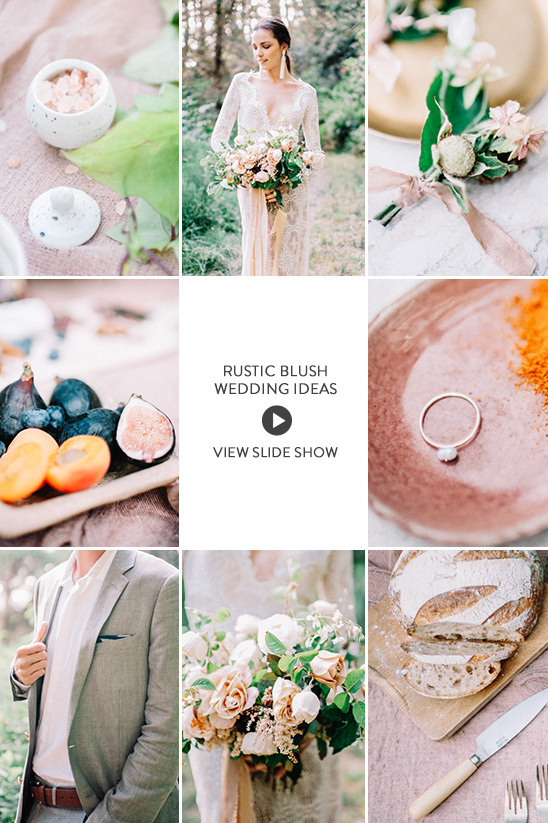 rustic blush wedding ideas