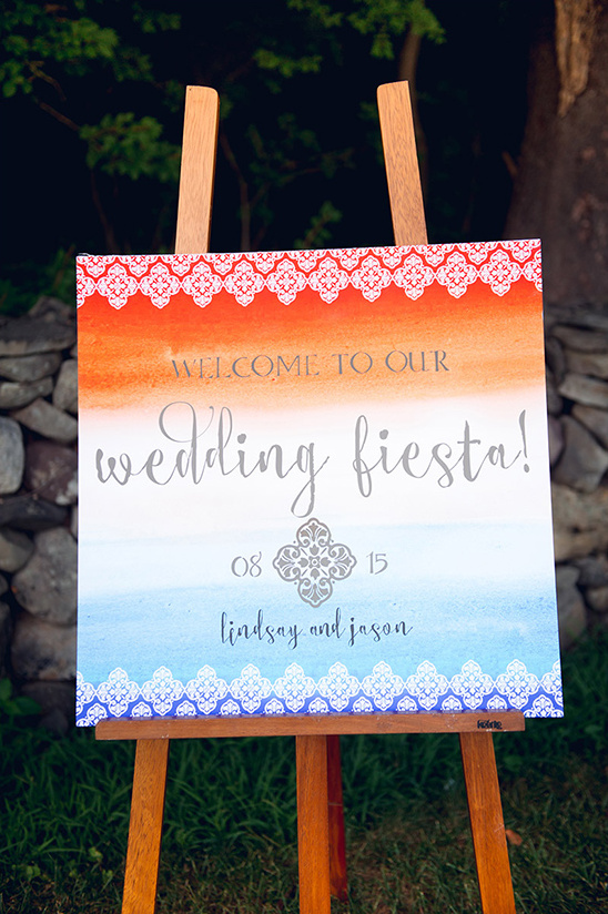 watercolor wedding sign @weddingchicks