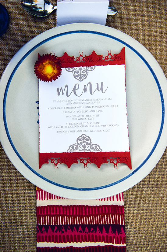 wedding menu design @weddingchicks