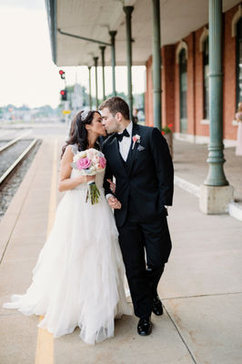 Pink and Gold Classic Romance Wedding