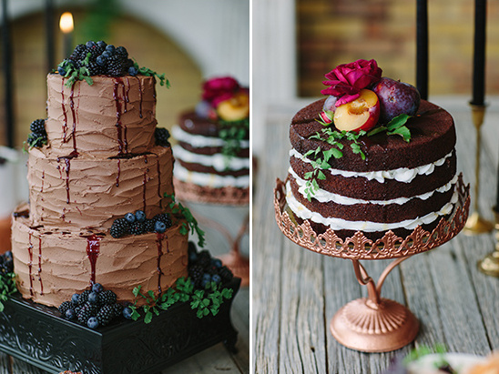 fruit topped wedding cakes @weddingchicks
