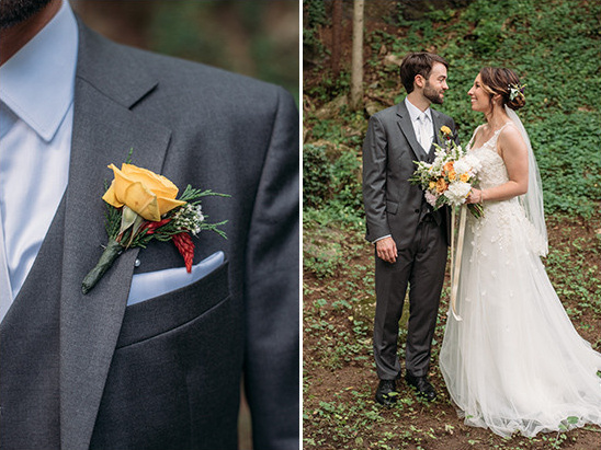 grey and blue groom @weddingchicks