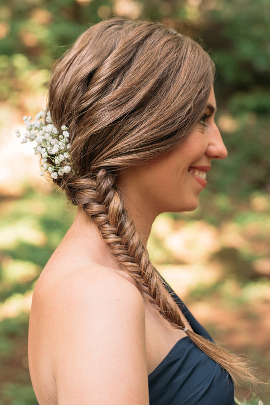 fishtail braid @weddingchicks