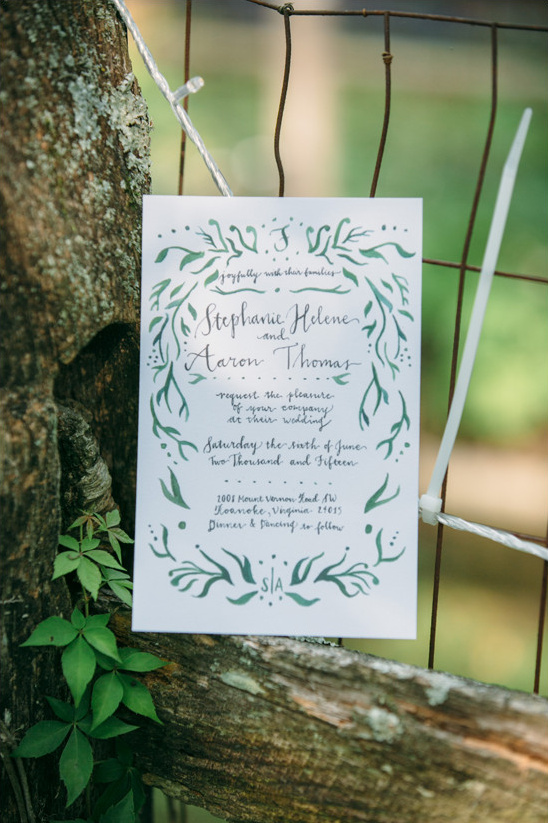 organic wedding invitation @weddingchicks