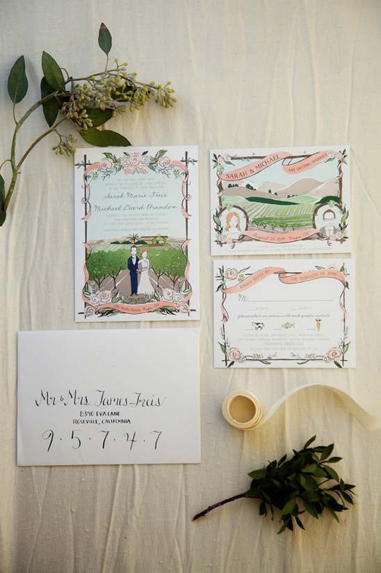 Amy Heitman wedding invitations @weddingchicks
