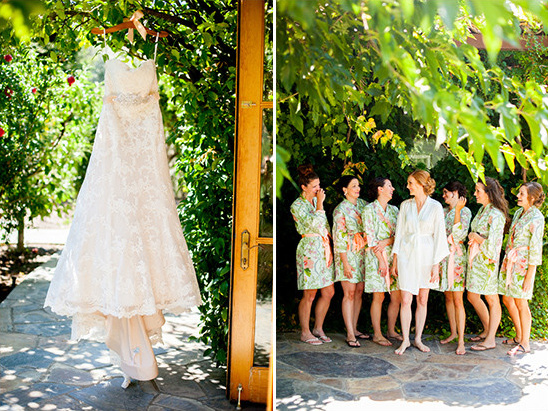 wedding dress and robes @weddingchicks