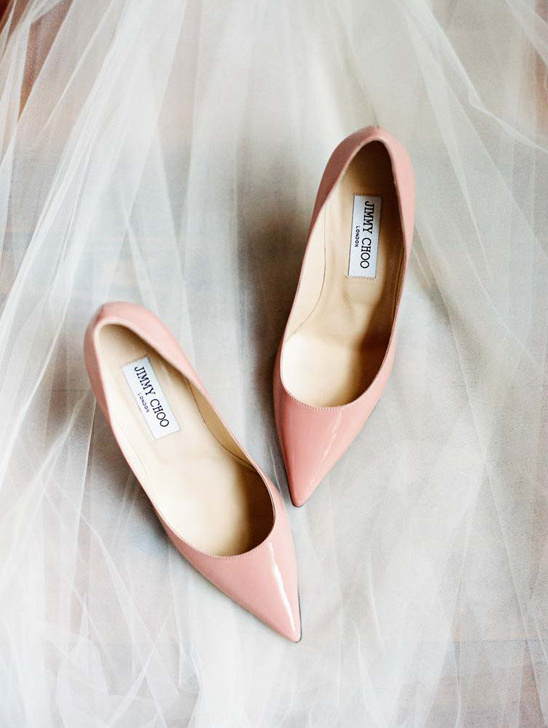 pink Jimmy Choo shoes @weddingchicks