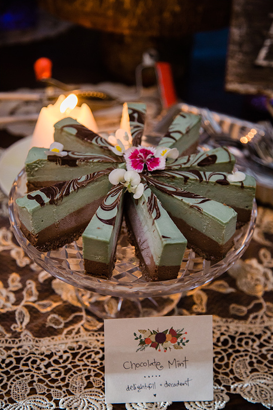 chocolate mint cheesecake @weddingchicks