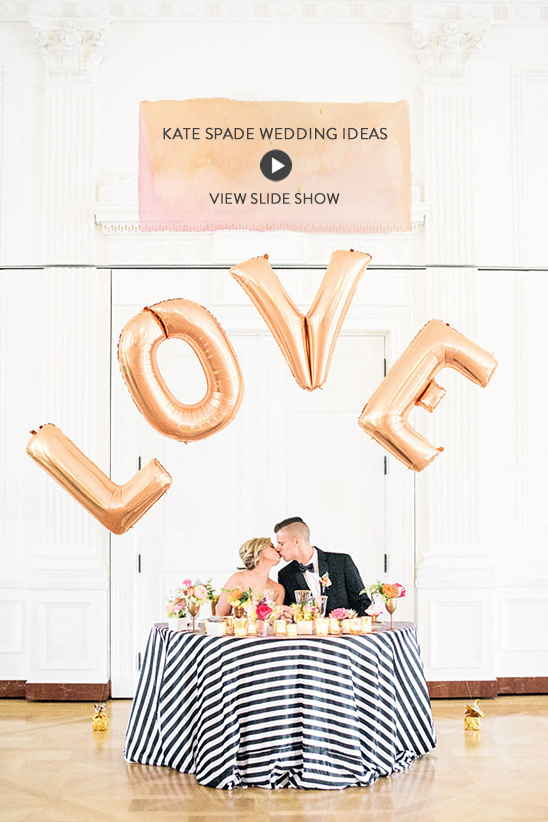 Kate Spade Wedding Ideas @weddingchicks
