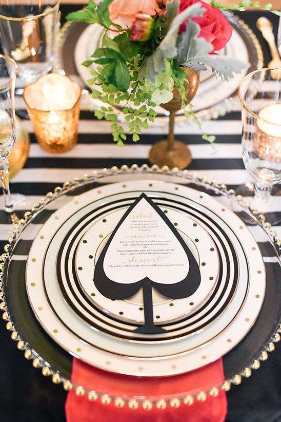 kate spade wedding menu @weddingchicks