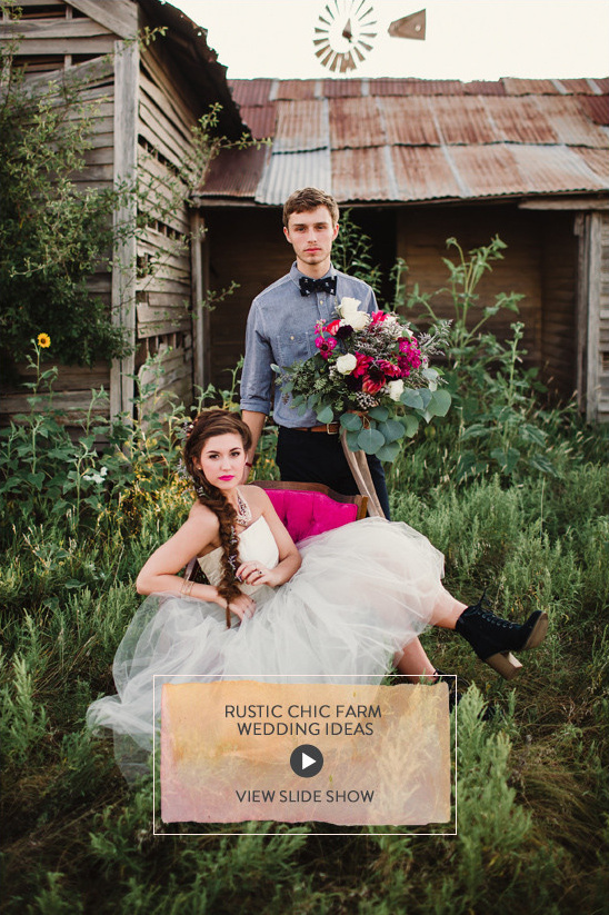 Rustic Chic Farm Wedding Ideas @weddingchicks