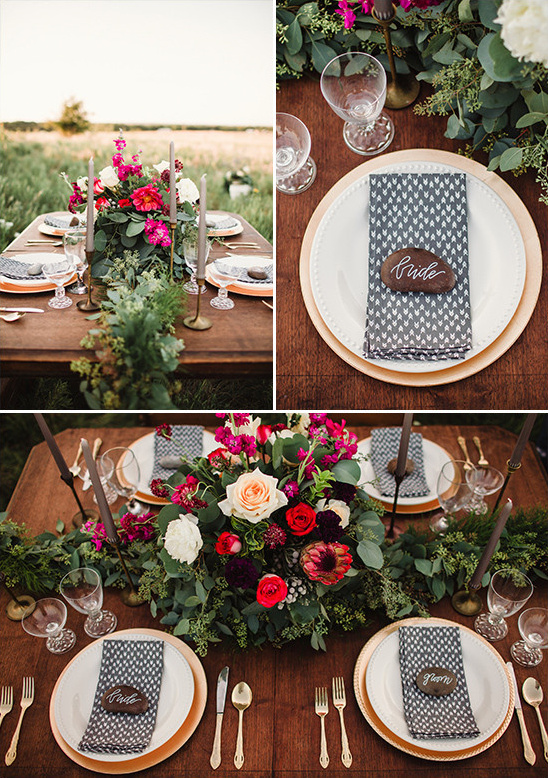 outdoor table decor @weddingchicks