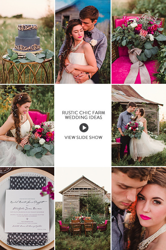 Rustic Chic Farm Wedding Ideas slideshows