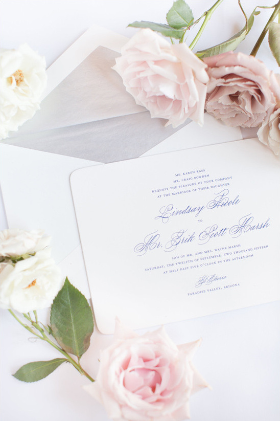 traditional wedding invitations @weddingchicks