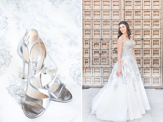 silver and white wedding look @weddingchicks