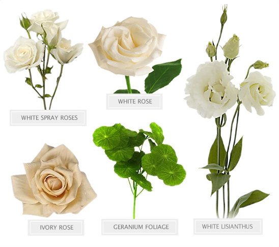 all white bouquet recipe @weddingchicks