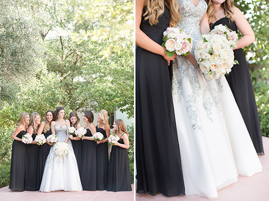 black bridesmaids @weddingchicks