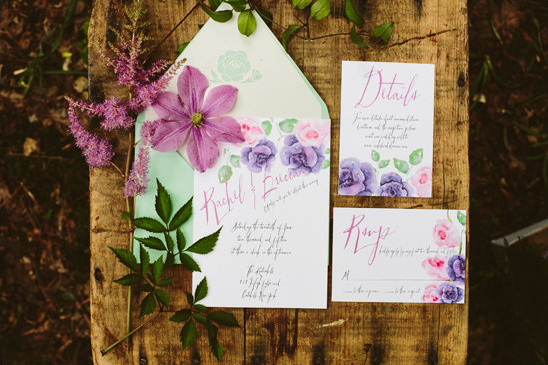 Bohemian Mint invitations @weddingchicks