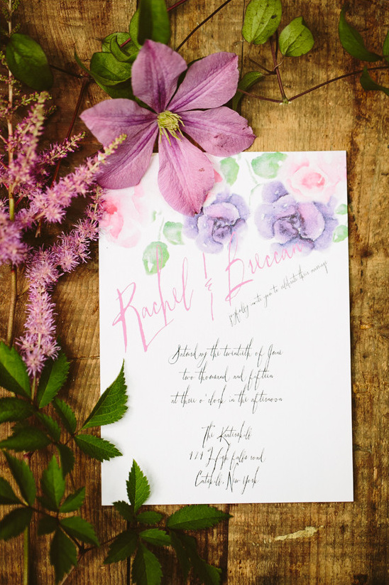 flower invitation @weddingchicks