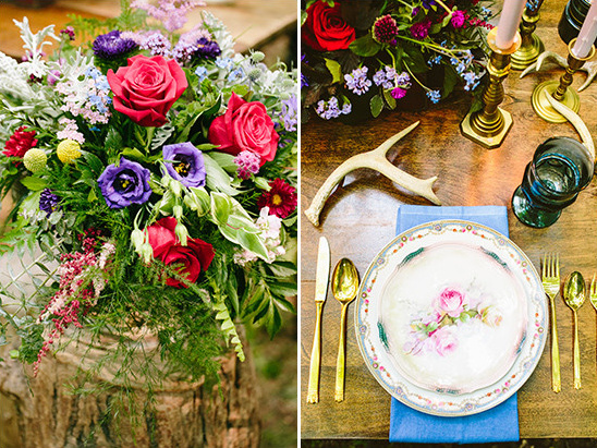 vintage rustic table decor @weddingchicks