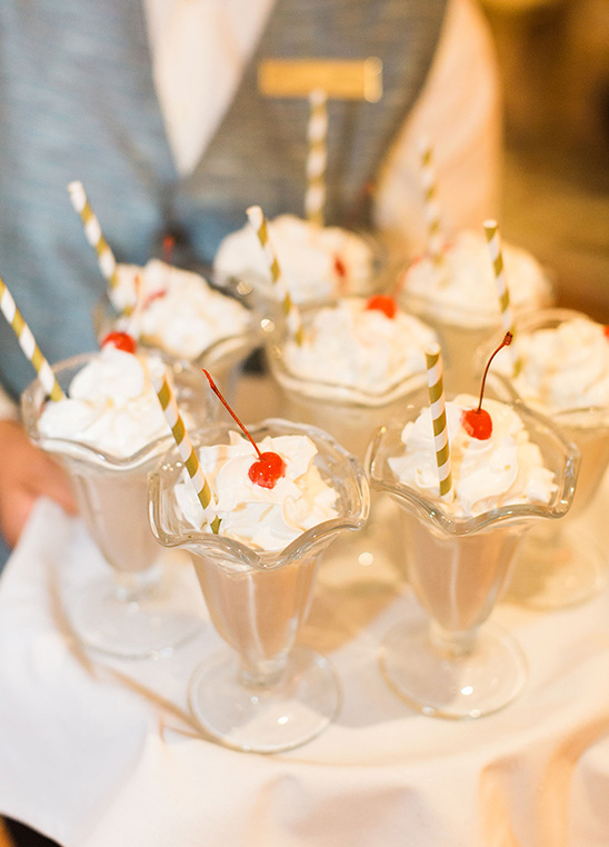 wedding milkshakes @weddingchicks