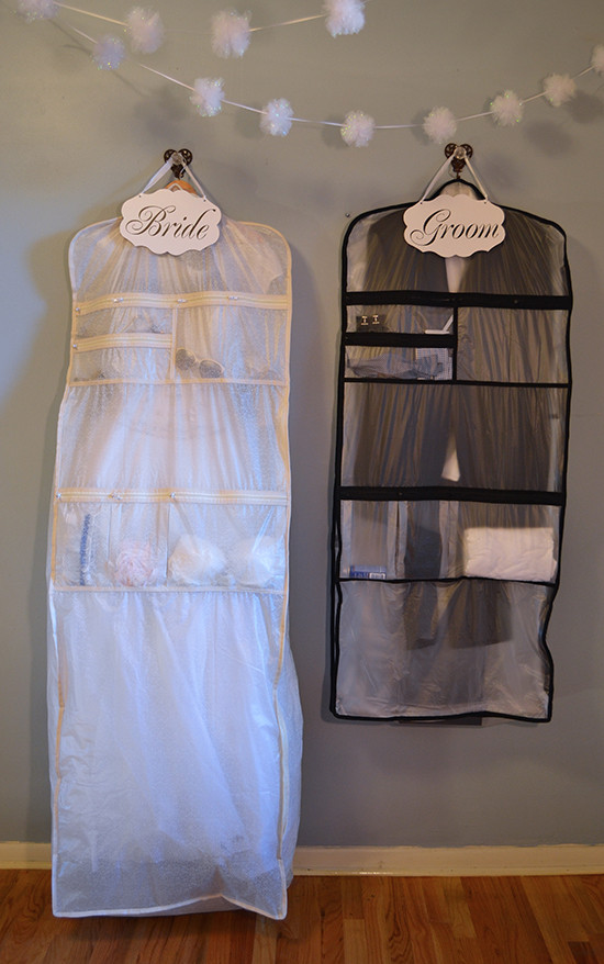 Set Ready Garment Bags @weddingchicks