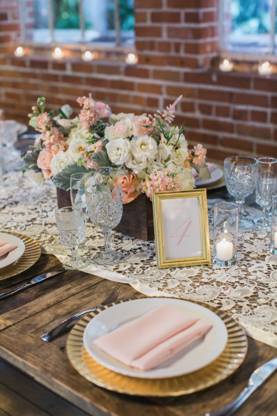 Gallery Pink And Gold Vintage Glam Wedding