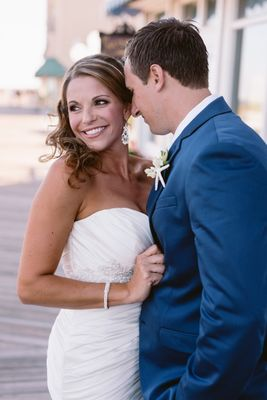 Gold and Teal Beach Wedding