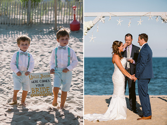 beach wedding ceremony @weddingchicks